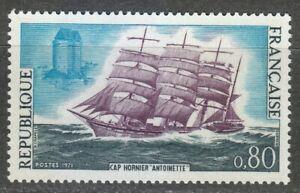 "France 1971 MNH Mi 1745 Sc 1301 Cape Horn Clipper ""Antoinette"" & Solidor Castle"