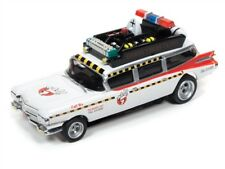 NEW HO AUTO WORLD Ghostbusters Ecto 1A - 1959 Cadillac Ambulance T Jet REL 20