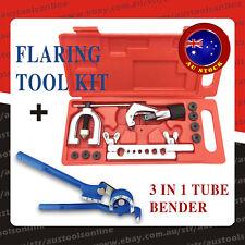 11pcs Air Brake Line Flaring Tool Kit Copper Alu Pipe Cutter + 180° Tube Bender