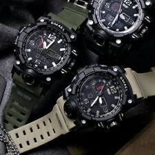 SMAEL Sports Watch Men's Waterproof S Shock Dual Time Analog Digital Wristwatch