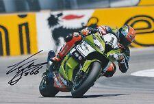 Tom sykes hand signed photo 12x8 kawasaki mondial superbike champion 2.