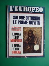 L'EUROPEO 1968 Kennedy Onassis Gianni Morandi Laura Efrikian SALONE AUTO TORINO