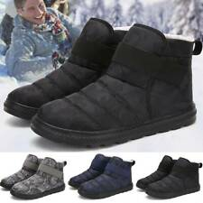 Men Winter Camo Army Warm Ski Snow Boots Casual Ankle Shoes Fur Lined Shoes Size