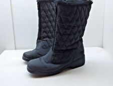 Totes Women Black Synthetic Waterproof Insulated Winter Boots Mid Calf Shoes 9 M