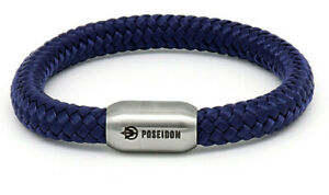 Poseidon Armband FRANK Segeltau Segelseil 8mm Ø Edelstahl Magnetverschluss