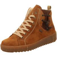 Rieker Antistress Damen Schuhe Schnürer Stiefel Boots Warmfutter Y6423-23 braun