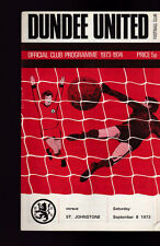 Dundee United v St Johnstone Official Programme September 8 1973
