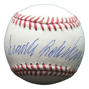 """Frank Robinson Signed Autographed Baseball OML Ball """"TC 66"""" Reds Orioles Steiner"""