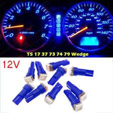 10Pcs LED 1smd Per Bulbs 12V DC Car Light Replacement 194 T5 Wedge Base Blue