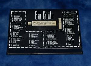1950's Bar Guide Drink Guide Estate Find