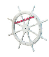 """Wheel Wooden Steering Nautical Vintage Boat Ship Collectible home Decor 30"""""""