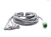 Mindray DPM6/7 ECG Cable 12 Pin 5 Leads Snap Compatible - Same Day Shipping