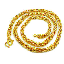 Chain Necklace 22K 23K 24K Yellow Gold Plated 25 inch, 65 Grams, 6 mm, Jewelry