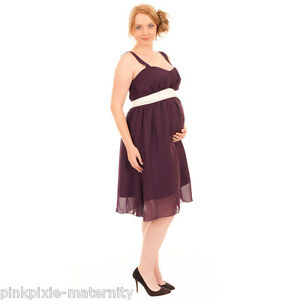 NEW Maternity Pregnancy Evening Party Dress Blue or Plum Sz 8 10 12 14 16 18 20