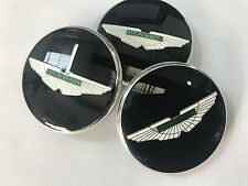 Aston Martin Wheel Centre Badge (Single) - Gloss Black with Green Wings