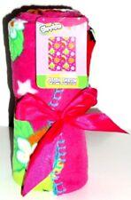 Shopkins Lightweight Plush Blanket Travel Throw Cookie Strawberry Apple Blossom