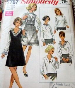 LOVELY VTG 1960s DRESS & BLOUSE Sewing Pattern BUST 43
