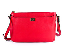 NWT Coach Madison Leather Swingpack Light Gold/Love Red