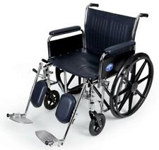 """Medline Excel FULL ARMS Bariatric Wheelchair 500 LB Capacity 24"""" Wide Seat  ELR"""