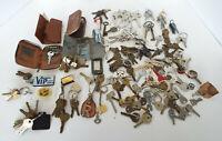 Vintage Keys 4 Lbs Estate Lot Skeleton Tec Cole Weiser Gardner Cases Yale Lock