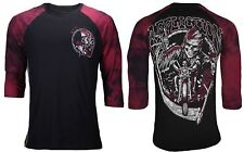 Affliction XXL RIDE or DIE Reaper Skeleton Skull Roses 2XL Tshirt NEW UFC Raglan