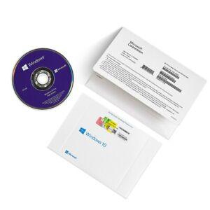 Genuine Microsoft Windows 10 Pro Professional 64 bit DVD + Product license Key