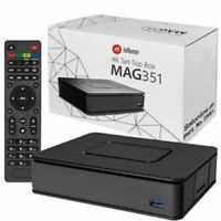 Genuine Mag 351/352 Set Top Box IPTV Linux 4K UHD HEVC | Wifi and Bluetooth