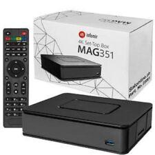 Genuino Mag 351/352 Set Top Caja Iptv Linux 4k Uhd Hevc Wifi y Bluetooth