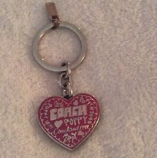 Coach Poppy Pink Heart Picture Frame Keychain