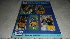 GAME DAY1986 RAMS VS DOLPHINS December 14, 1986