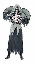 Adults Ladies Mens Halloween Warlock Skeleton Costume Onesize fits 8-14 Black