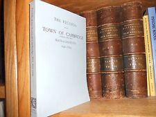 The Records of The Town of Cambridge Massachusetts 1630-1703 Genealogy book