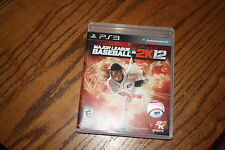 MLB 2K12 (Sony Playstation 3, 2011) Good Shape Complete MLB 2K 12