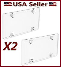ACRYLIC CLEAR BUBBLE LICENSE PLATE FRAME COVER PLASTIC AUTO TAG SHIELD HOLDER X2