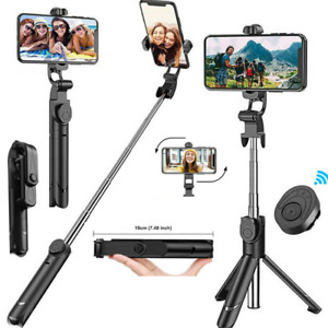 Bluetooth Selfie Stick Tripod Remote Extendable Monopod for iPhone12 11 Android