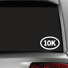 10k Runner Sticker Vinyl Decal Oval Running Run Race Jogging Auto car window