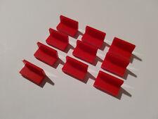 LEGO® 10 x 26169 Panel 1 x 2 x 1 rot Bank Sitz 6146217 4865b Winkel City #AA53