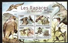 BURUNDI   PF / MNH SHEET VOGELS birds OF PREY OISEAUX AVES VÖGEL UCCELLI