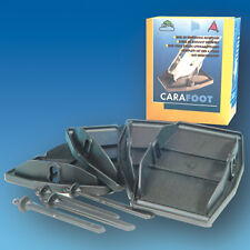 Carafoot Corner Steady Jack Pads / Feet (Set of 4) Black - for caravan