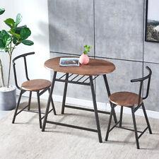 3 Pcs Modern Dining Set 2 Chairs Table Pub Breakfast Metal Leg Kitchen Furniture