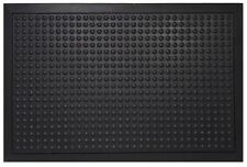 "Commercial Rubber Floor Mat Bubble Scraper Indoor Outdoor Office Mat 24"" x 36"""