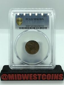 1870 Indian Head Cent Penny Graded By PCGS MS63BN Only One On Ebay!