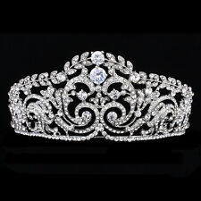 Bridal Pageant Rhinestone CZ Crystal Wedding Prom Princess Crown Tiara 8922