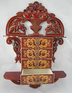Console With Jewelry Box Jewellery 45x32x8 Antique Baroque Reproduction 4