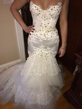 Custom made Pnina Tornai wedding gown