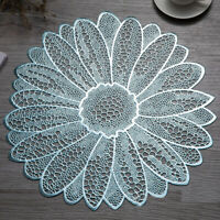 Sun Flower PVC Hollow Placemat Coaster Pads Bowl Mats Dining Table Home Decor