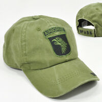 US ARMY 101st AIRBORNE DIVISION OLIVE GREEN CAP HAT LOW PROFILE COTTON MILITARY