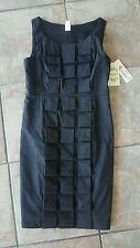 NWT- Women's Sangria Petite Black Dress Size 8P.  Knee Length Little Black Dress