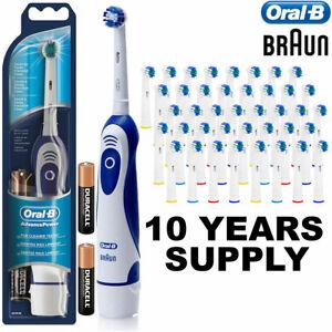 Braun Advance Oral B Electric Toothbrush + 41 Toothbrush Heads + Batteries