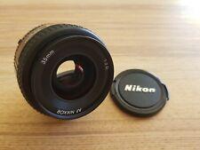 Nikon NIKKOR AF 35mm f/2D Lens Near Mint, Free Shipping + Caps